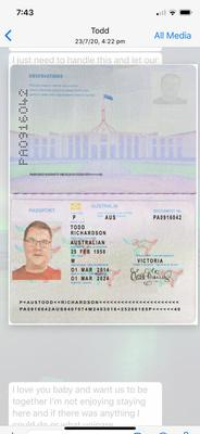 A Fake Australian Passport