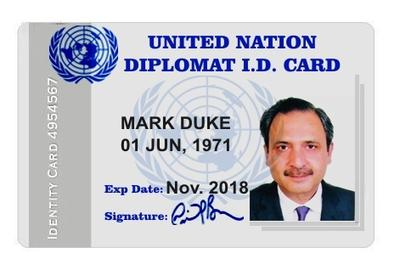 Fake UN ID card