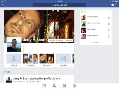 Facebook Timeline Screenshot